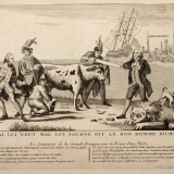 1780-the-commerce-of-great-britain-in-the-form-of-a-cow