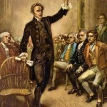 An artistic account of one of Patrick Henry's fiery speeches