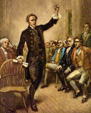 patrick henry an artistic account of one of patrick henry s fiery speeches