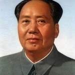 The familiar face of Mao Zedong, leader of the communist revolution