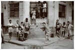 Impoverished Cuban children, the victims of Cuba's paralysed economy under Castro