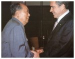 Richard Nixon meets Chinese communist leader Mao Zedong in 1972
