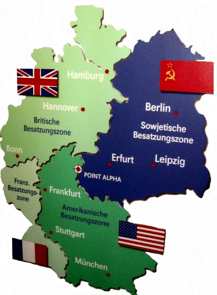 Map Of Germany During Cold War.Post War Germany