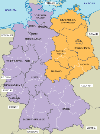 Map Of Germany During Cold War.East Germany