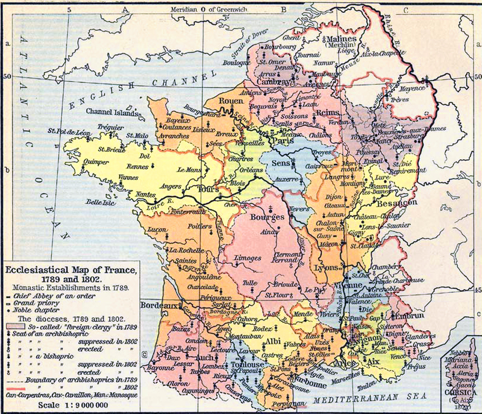 Map Of France In 1789.French Revolution Maps