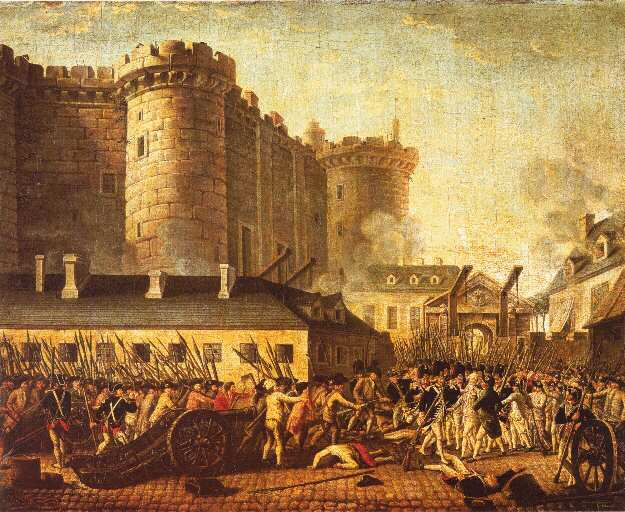 describe the incidents that led to the storming of the bastille