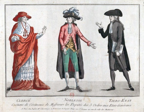 the first estate a depiction of the three estates in order the clergy on the left before the revolution french society