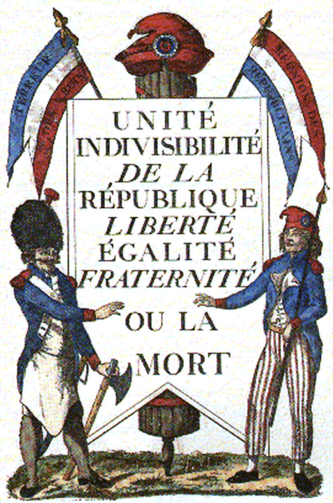 the ideas of the french revolution  french revolution ideas a visual depiction of liberty equality and fraternity