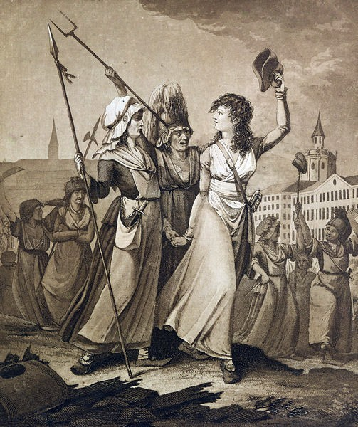 the on versailles a drawing of the fishwives of paris laying siege to versailles in 1789