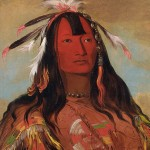 The 'noble savage' lives free of the corruption and affection of modern society