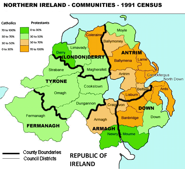Map Of Northern Ireland Counties.Northern Ireland Maps
