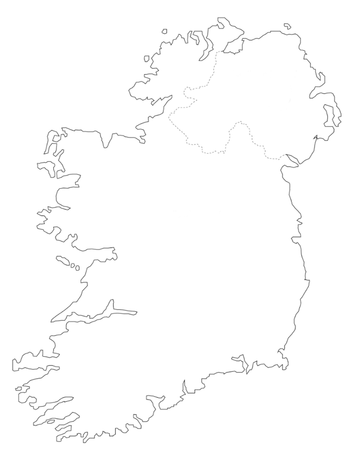 Outline Map Of Ireland.Northern Ireland Maps