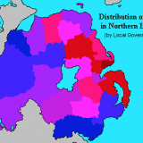16. Distribution of Protestants in Northern Ireland 1991