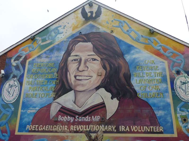 Northern ireland murals for Bobby sands mural