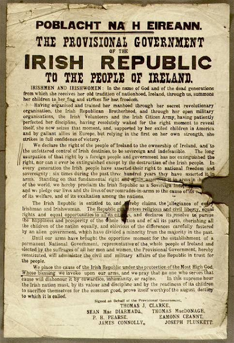 proclamation of the irish republic essay Proclamation of the irish republic essay example raÚl muÑoz rodrÍguez correo from the time of their creation in 1919, the irish republican army.