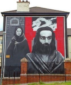 mural de huelguistas de hambre