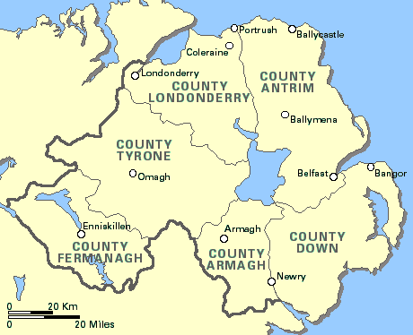 Map Of Northern Ireland Cities.An Introduction To Northern Ireland