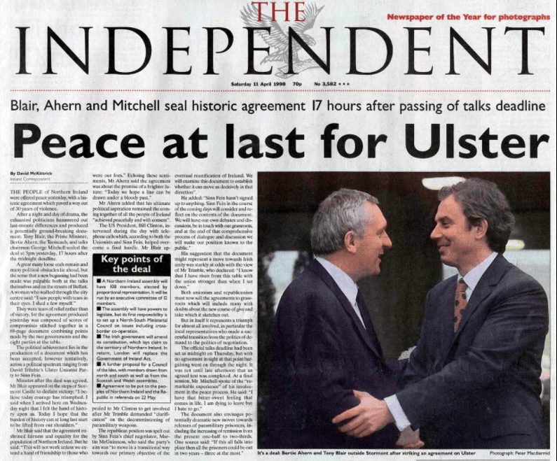 Reactions To The Good Friday Agreement