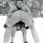 The young JFK, messing around with Lem Billings during their Choate years