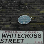 The site of Priss' Chuck Shop even has its own blue plaque