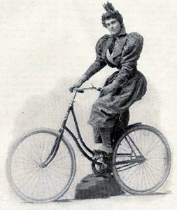 cycling woman 1895