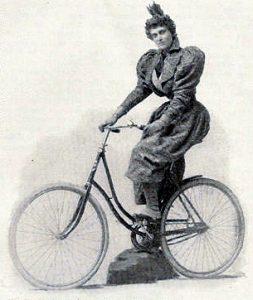 syklende kvinne 1895