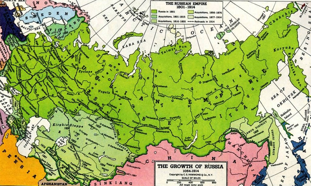 Russian Revolution Maps - Map russia