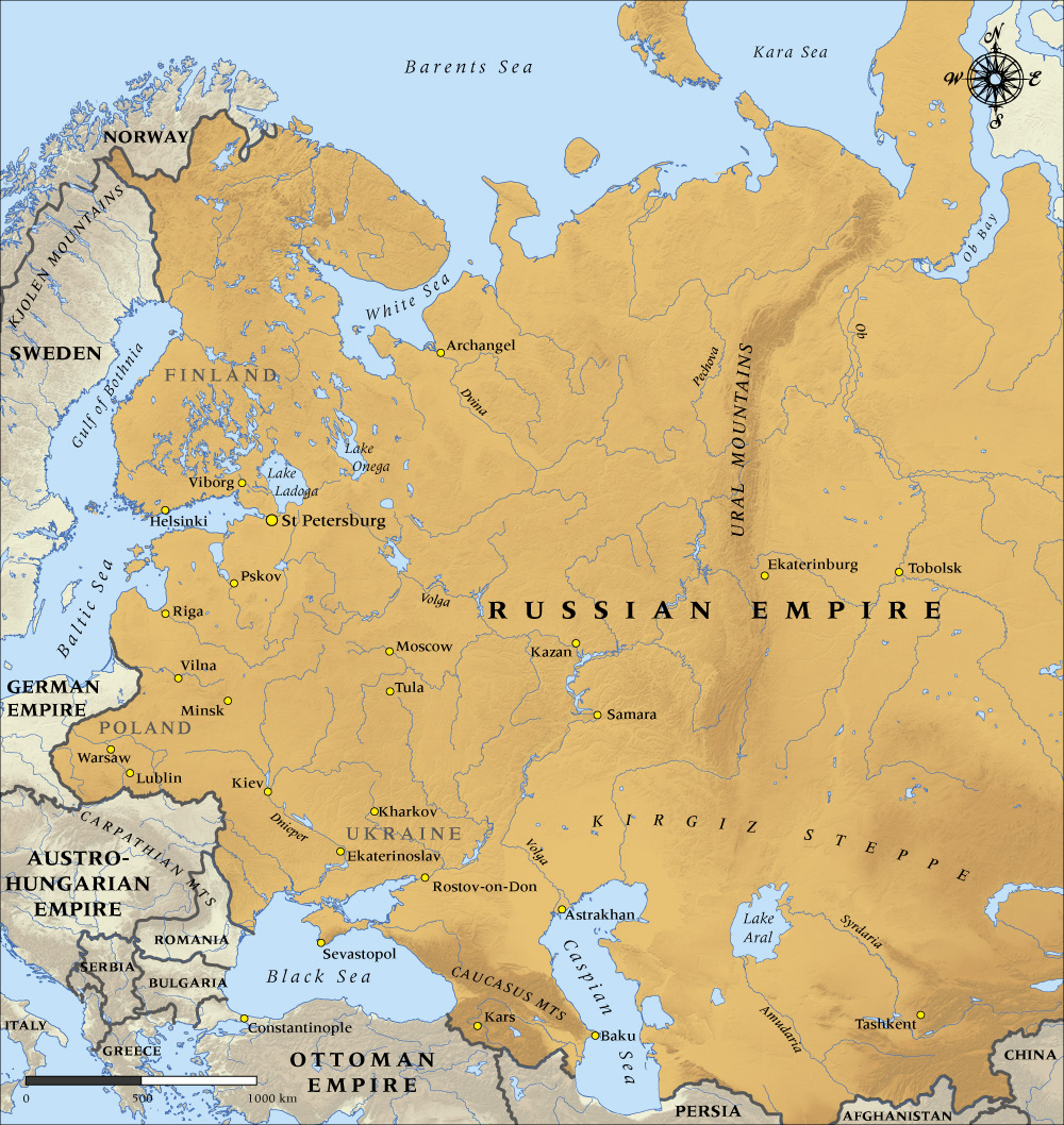 Russian Revolution Maps - Russian map