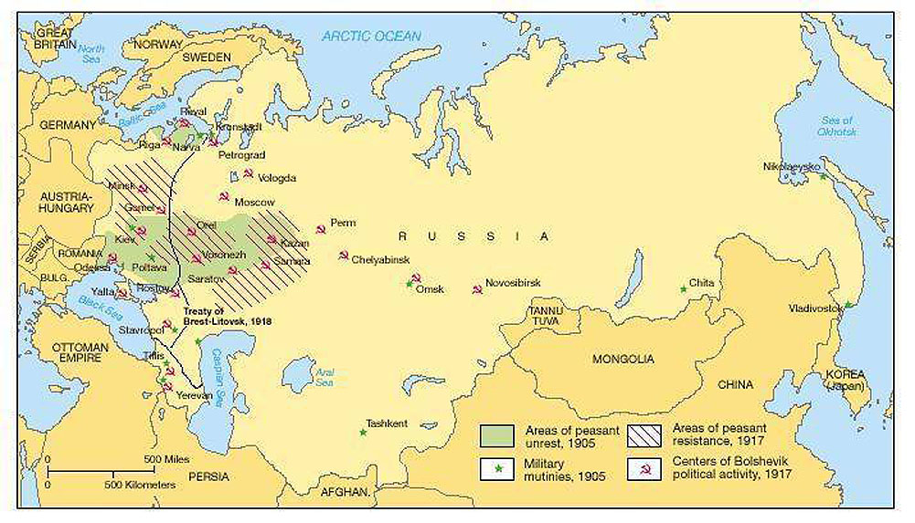 Russian Revolution maps