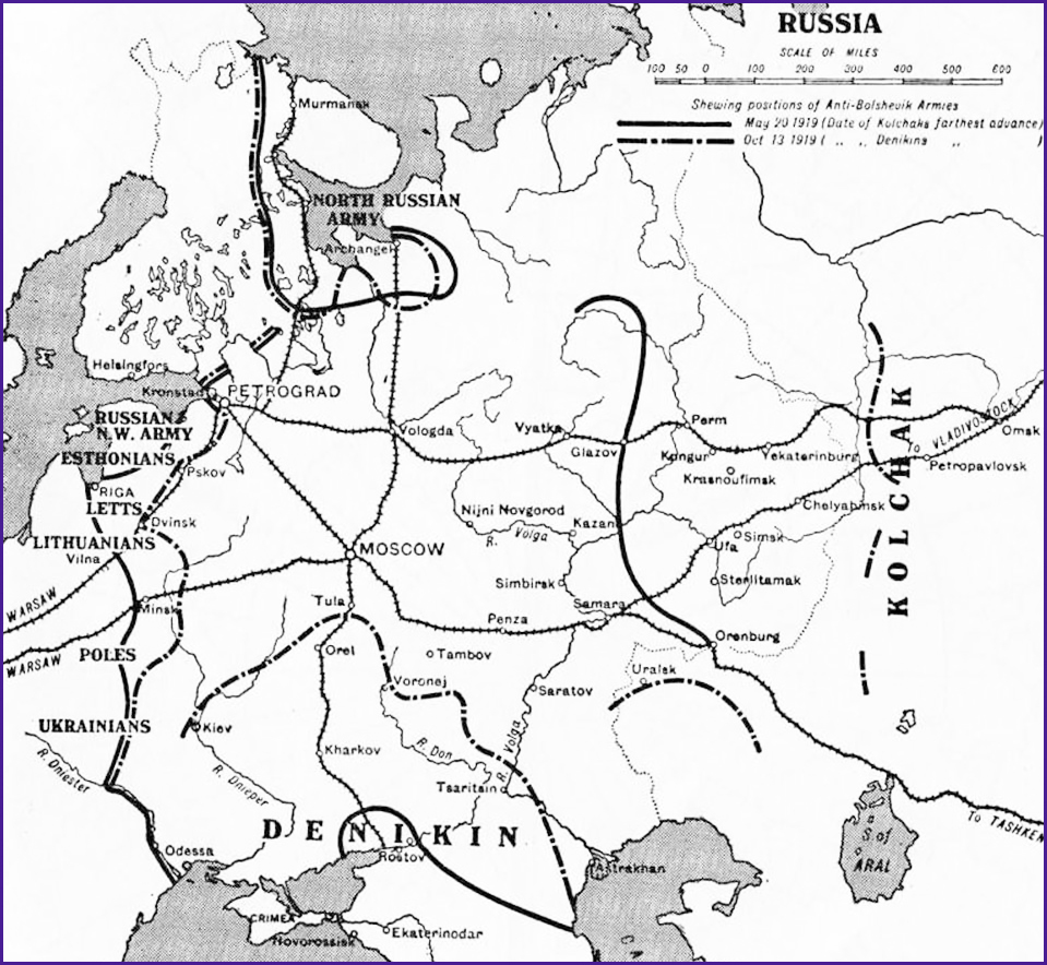 russian revolution maps russian civil war