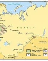 15. Russiske revolusjonære lokasjoner