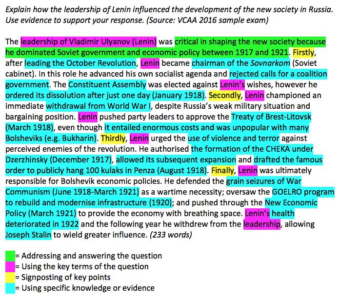 A plus vce essays
