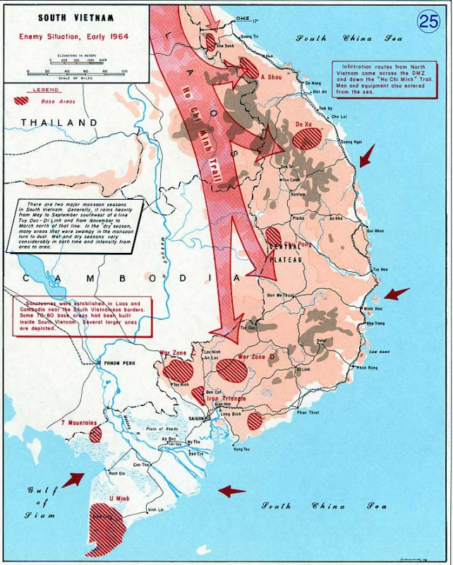 Vietnam War maps