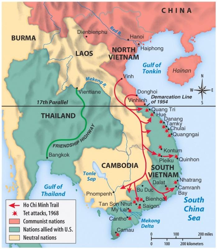 Vietnam war maps vietnam war 17 ho chi minh trail 1968 sciox Image collections