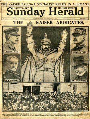 kaiser abdicates 1918
