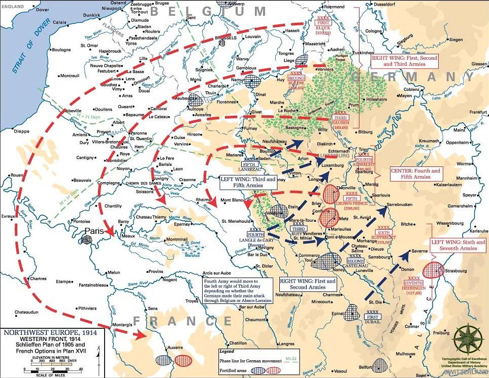 World war i maps 15 the schlieffen plan 1914 gumiabroncs Gallery