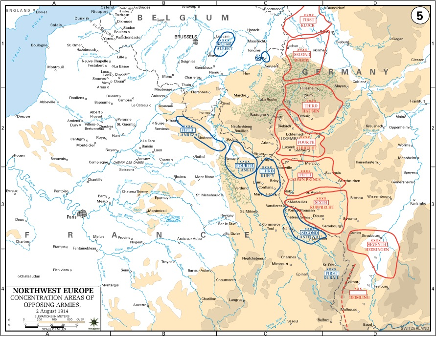 World war i maps the western front august 1914 gumiabroncs Choice Image