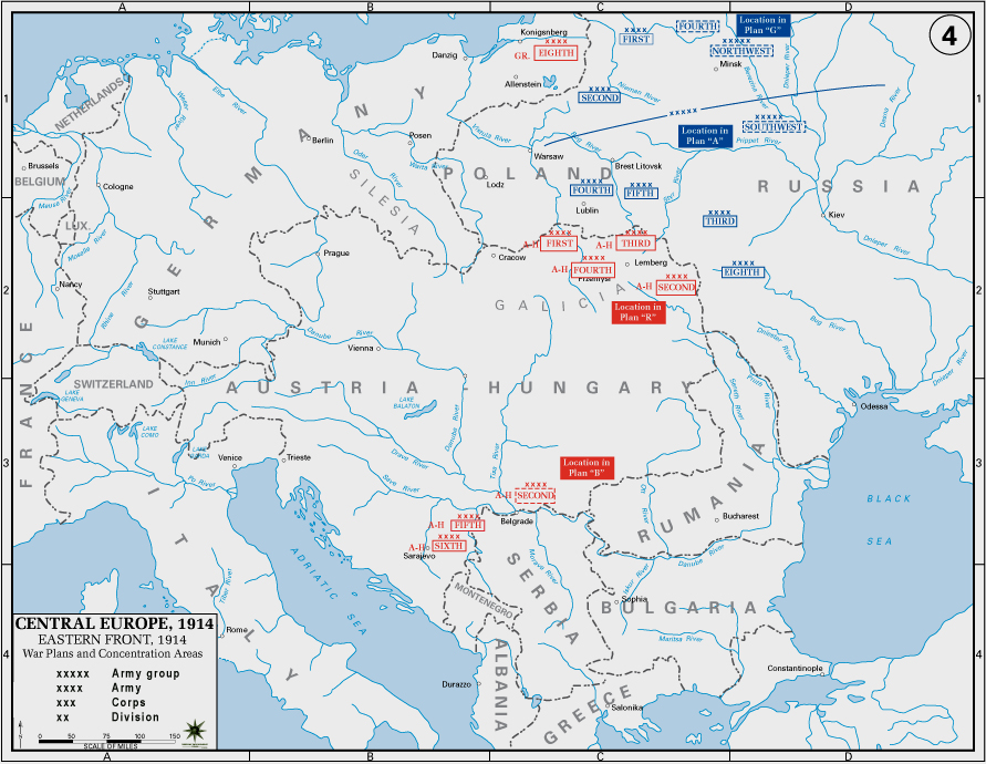 World War I maps