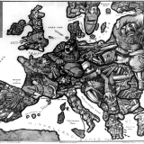 10. A satirical map of Europe 1914