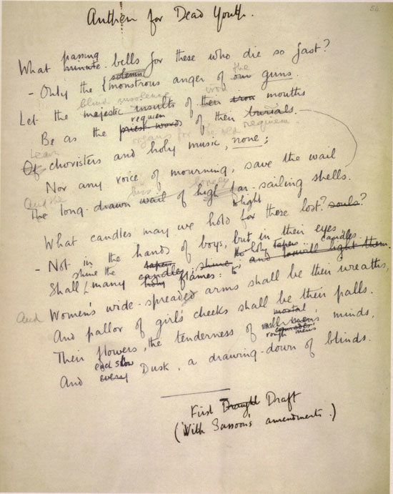 "anthem for doomed youth wilfred owen essay Anthem of the doomed youth by wilfred owen the poem i chose to study is ""anthem of the doomed youth"" by wilfred owen wilfred owen, the son of a railway worker."