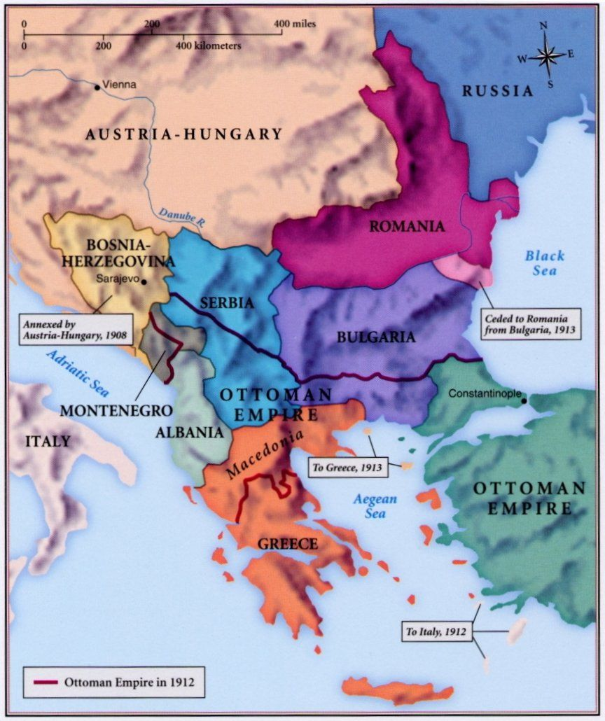 Pre Wwi World Map.The Balkans World War I