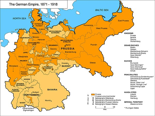Map Of Germany Before Ww1.Germany Before World War I